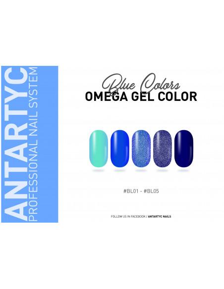 Gel color senza dispersione blu